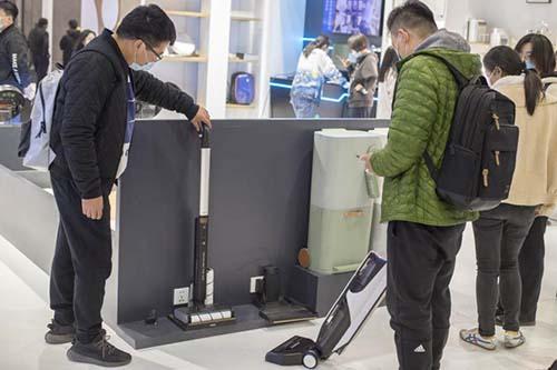 海尔洗地机亮相 AWE,硬核科技引众人围观